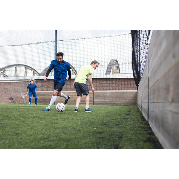 Voetbal voor 5 a side Society 500 maat 5 wit/zwart