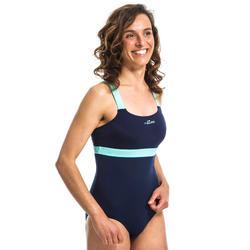 Badpak voor aquafitness Anna blauw/groen