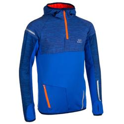 Camiseta manga larga cálida atletismo júnior kiprun azul rojo