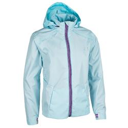 Girls' Athletics Rain Jacket - Ice Blue