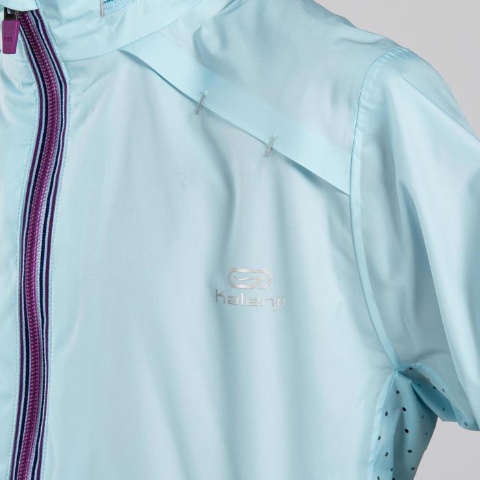 Chaqueta impermeable Atletismo niña azul claro