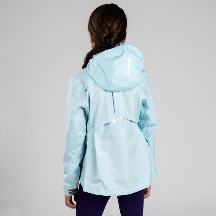 Hardloop regenjack kinderen lichtblauw