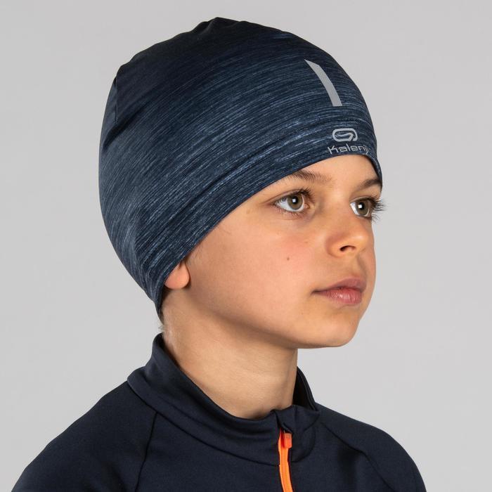 Atletiekmuts voor kinderen donkerblauw