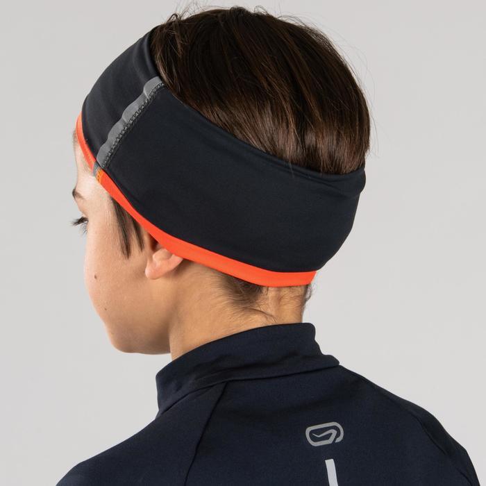 Bandeau réversible Athlétisme enfant gris orange