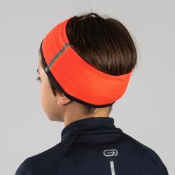 Wende-Stirnband Leichtathletik Kinder grau/orange