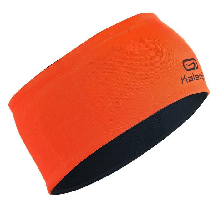 Omkeerbare atletiekhoofdband voor kinderen grijs/oranje