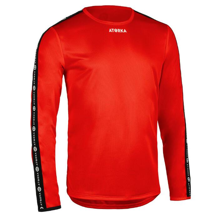 Handbalshirt met lange mouwen kinderen H100C rood
