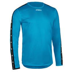Handbalshirt heren H100 met lange mouwen lichtblauw