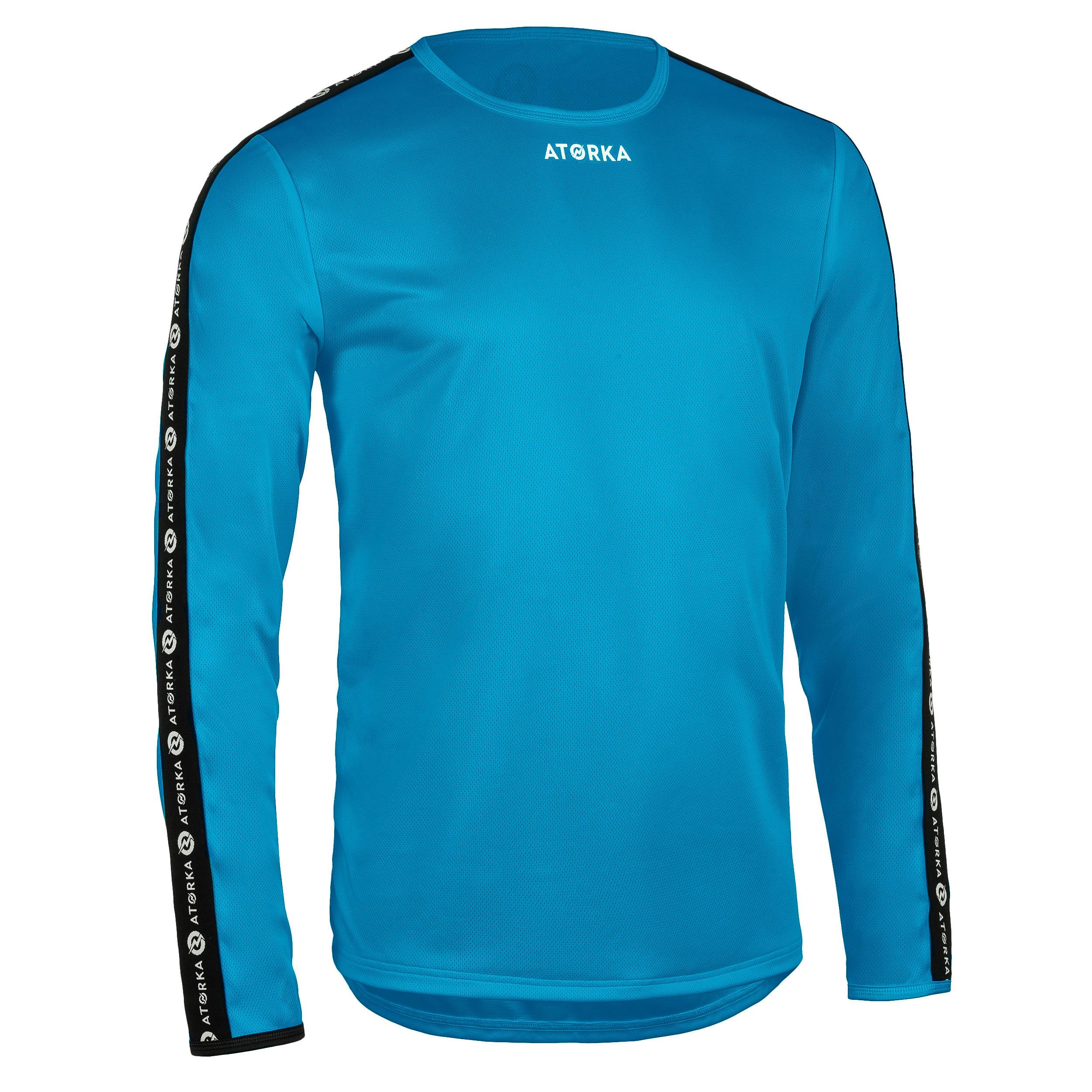 Maillot manche longue de handball homme h100c bleu clair atorka