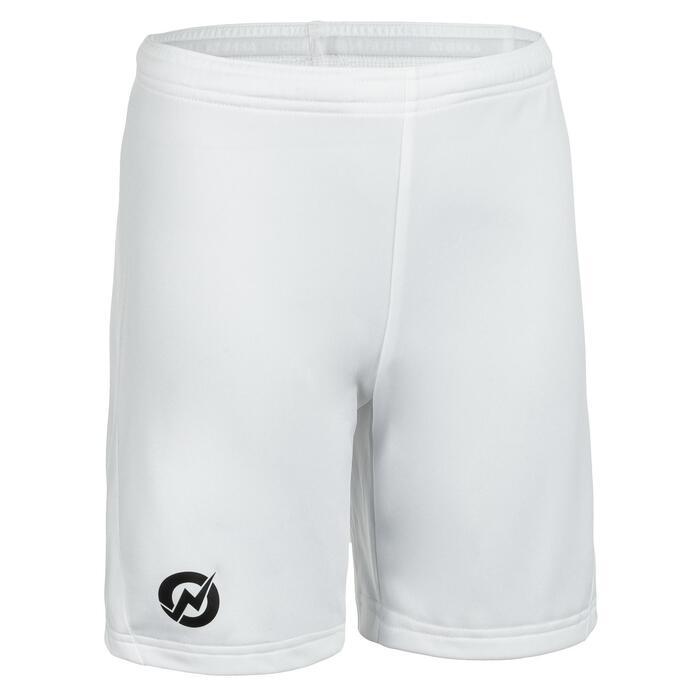 Pantalón corto de balonmano júnior H100C blanco