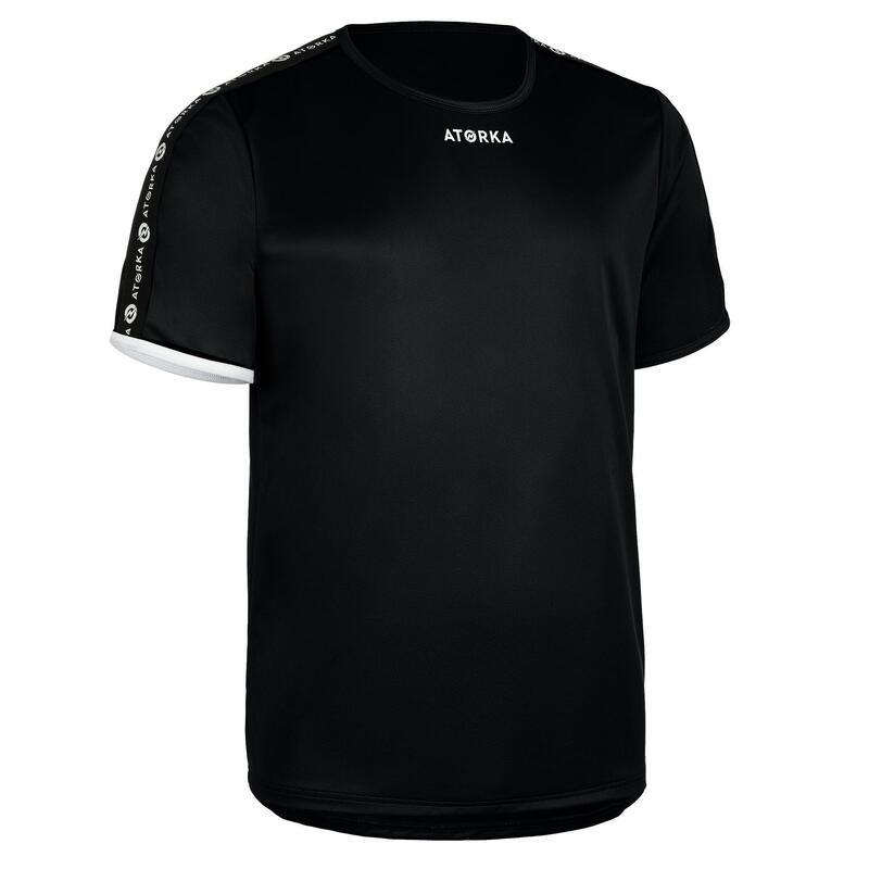 H100C Short-Sleeved Handball Top - Black