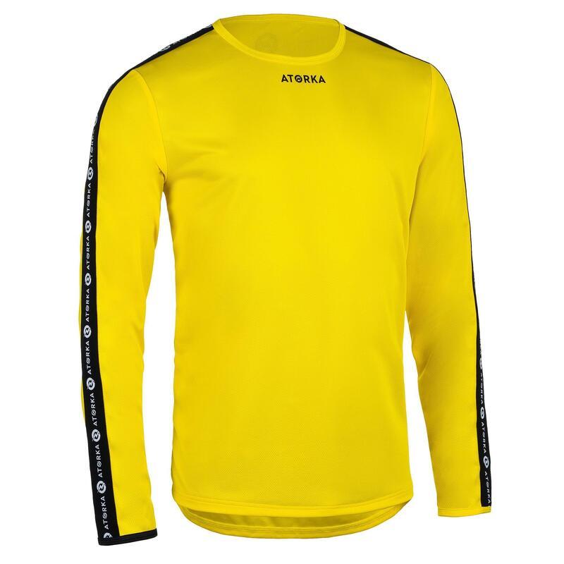Camiseta Balonmano Atorka H100C Manga Larga Niños amarillo
