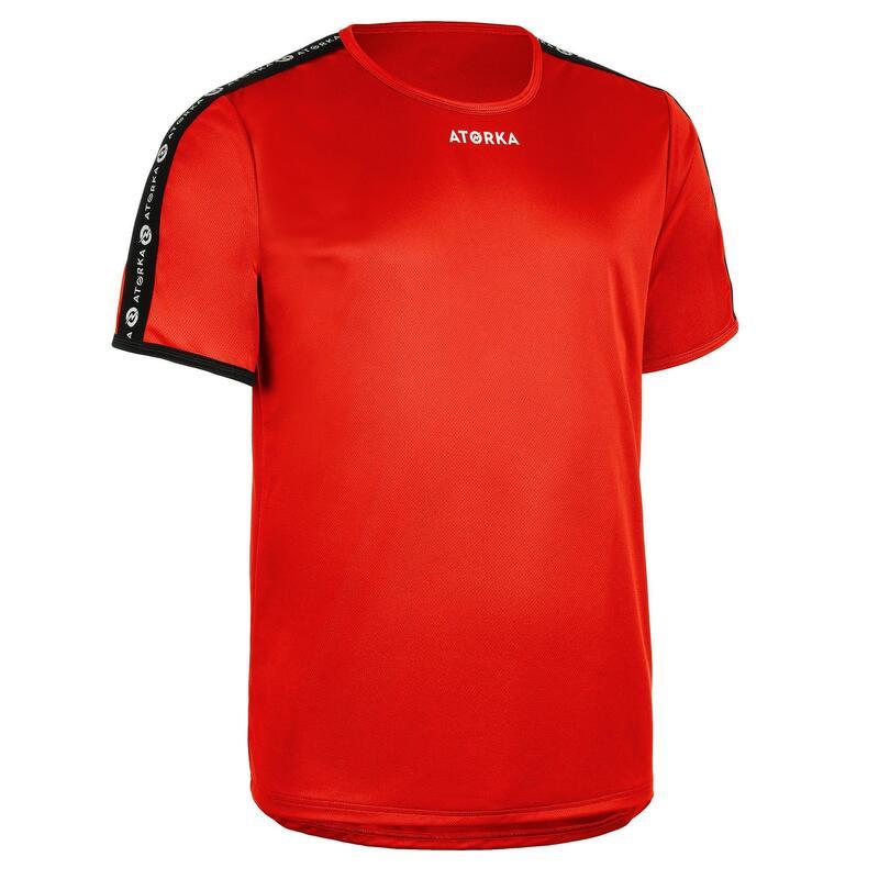 Maillot manches courtes de handball homme H100C rouge