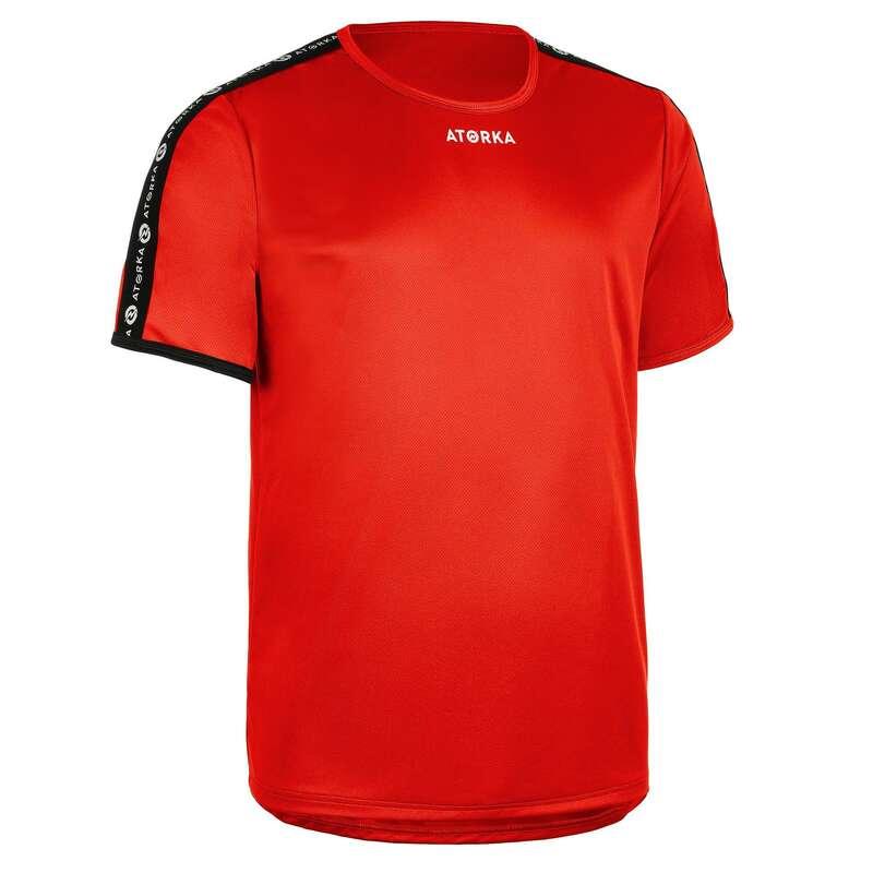 IMBRACAMINTE INCALTAMINTE HANDBAL BARBATI Imbracaminte - Tricou H100C roșu bărbați ATORKA - Imbracaminte