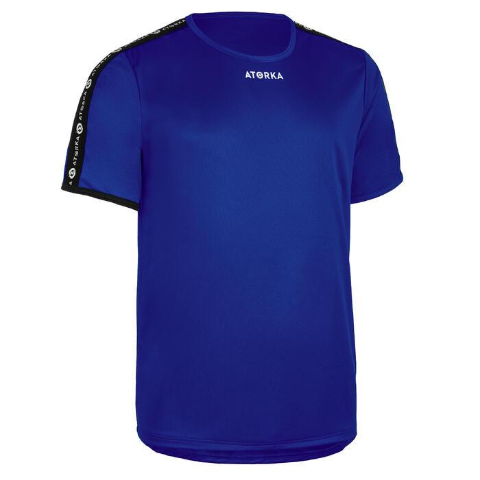 Maillot manches courtes de handball homme H100C bleu foncé