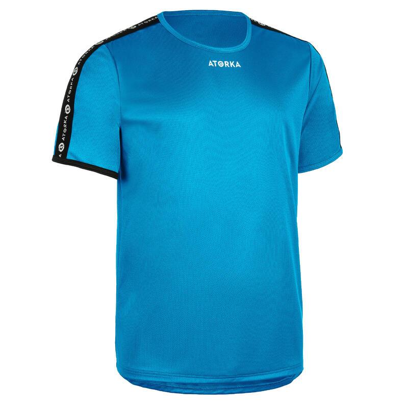 Maillot manches courtes de handball homme H100C bleu clair