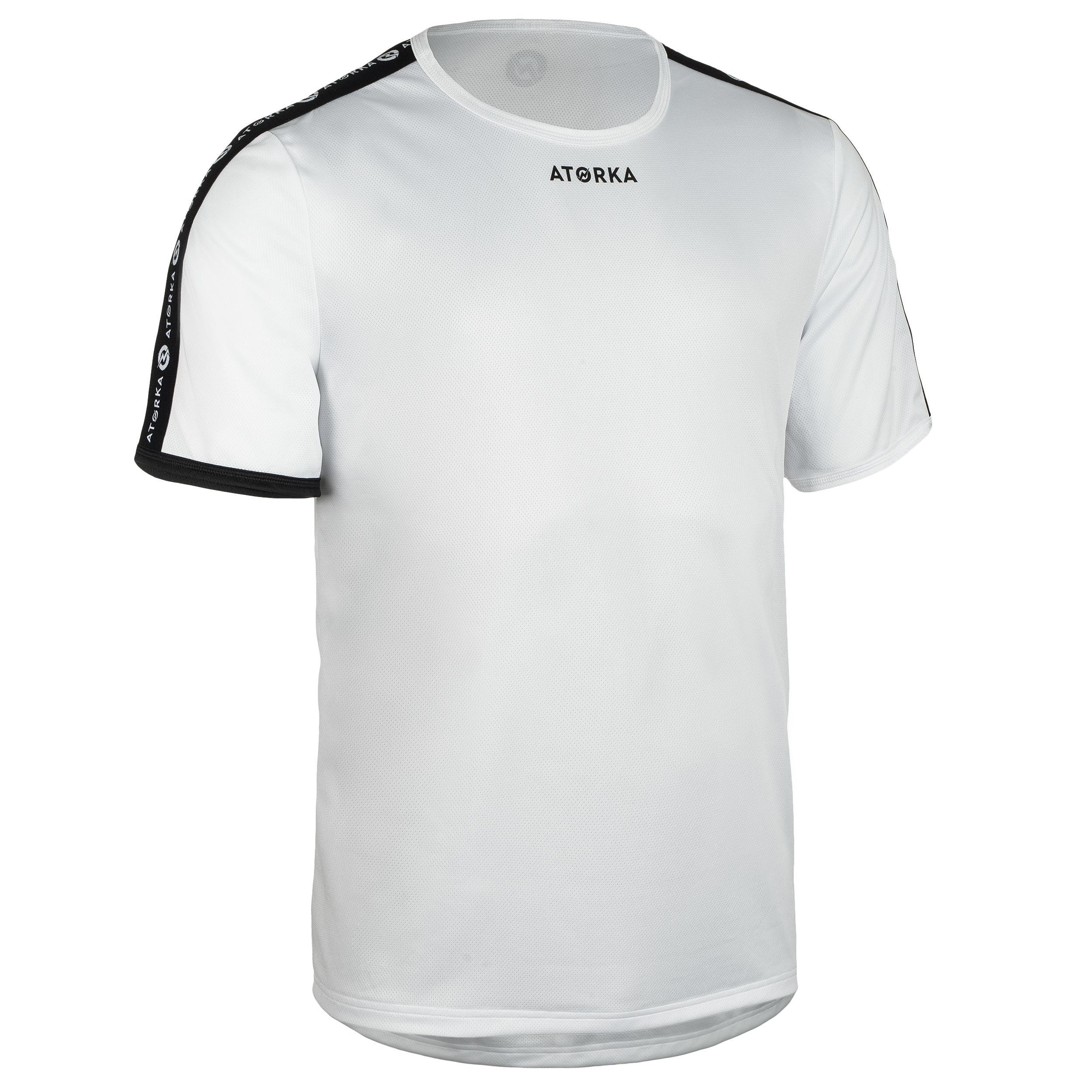 Maillot manches courtes de handball homme h100c blanc atorka
