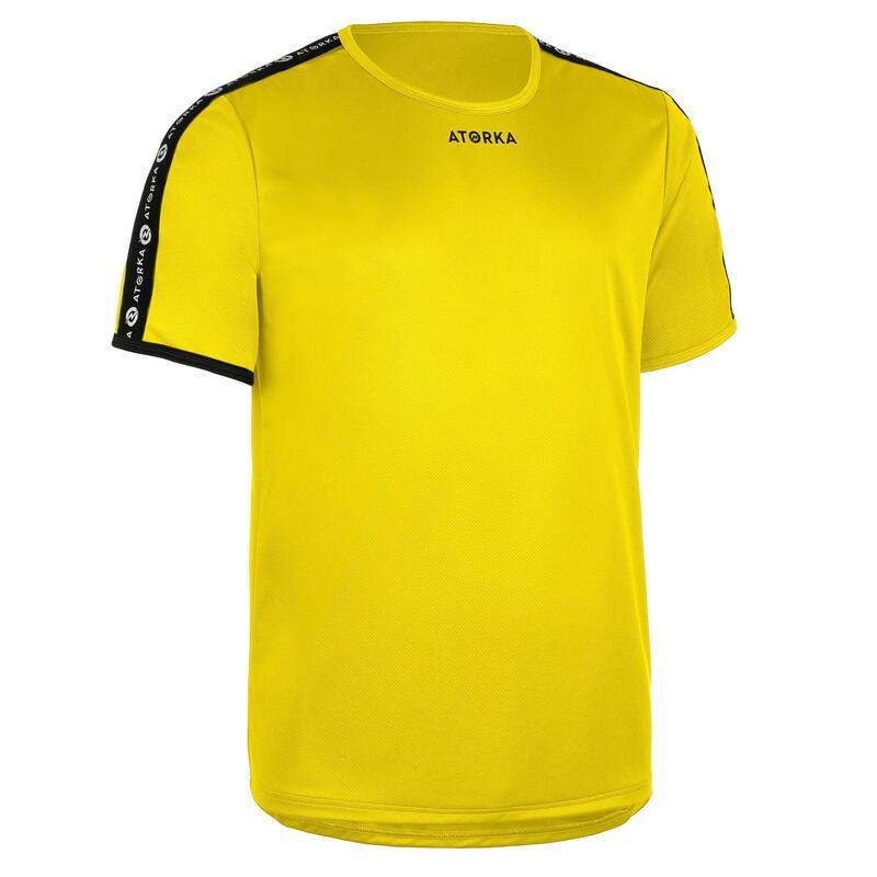 Handbalshirt met korte mouwen voor heren H100C geel