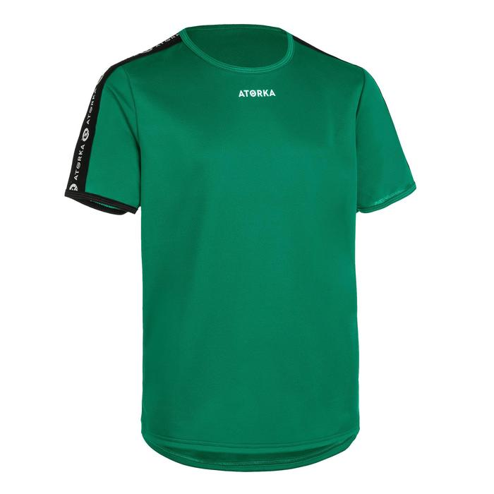 Handballtrikot H100 kurzarm Kinder grün