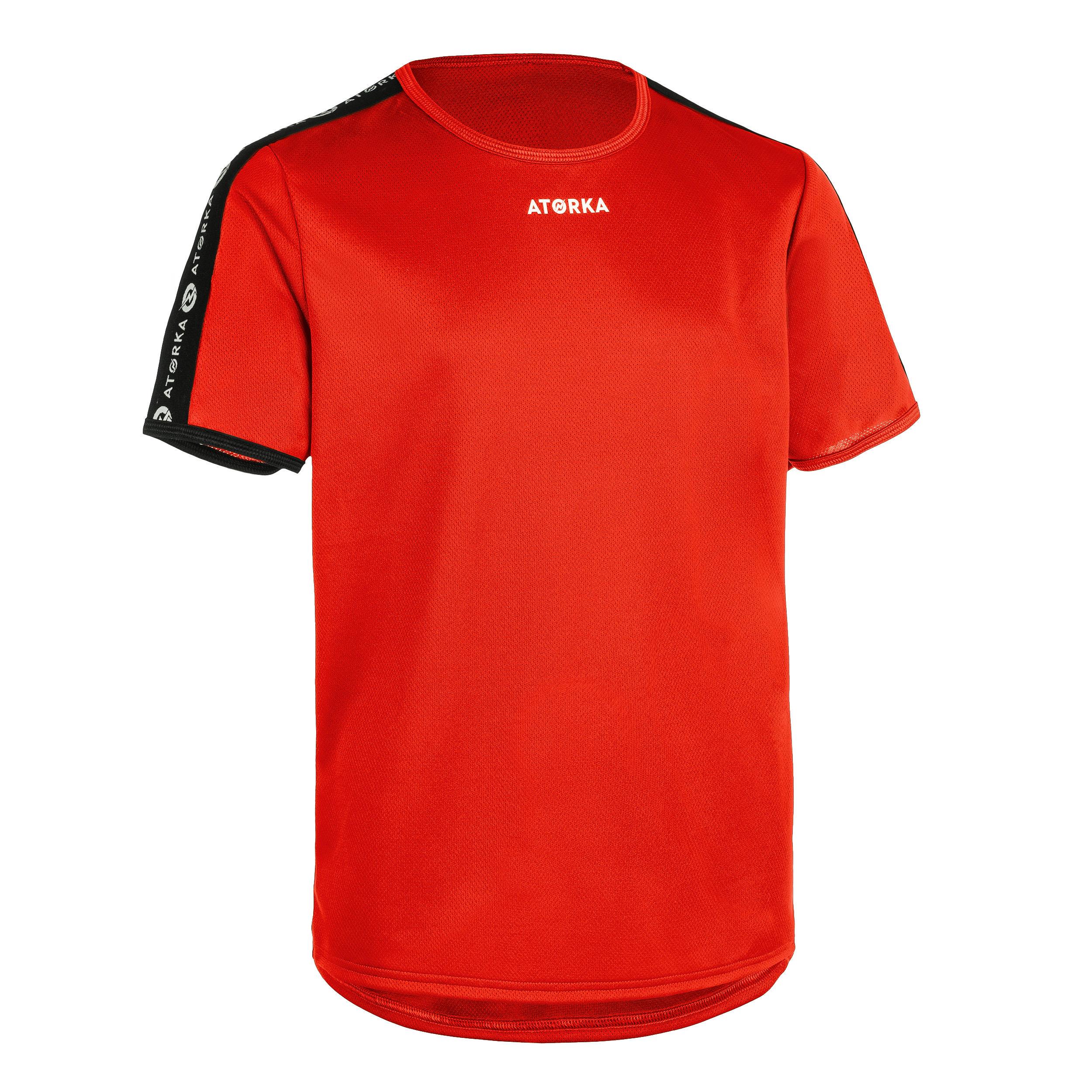 Tricou handbal H100 roșu copii la Reducere poza