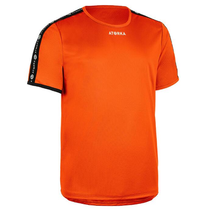 Handbalshirt met korte mouwen voor heren H100C oranje