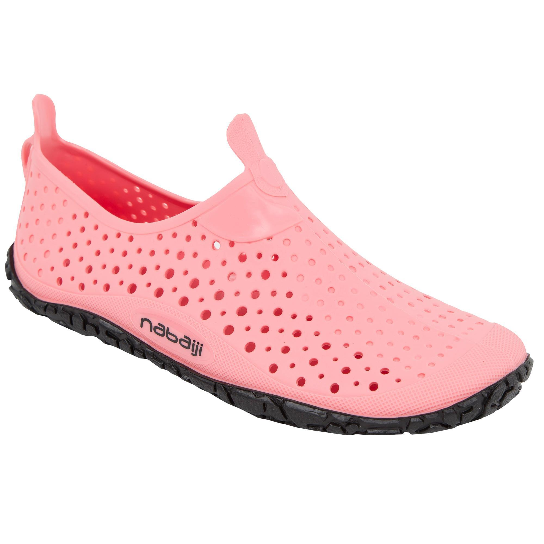 Aquaschuhe Aquagym Aqua-Biking Aquafitness Aquadots New rosa | Schuhe > Badeschuhe | Orange - Schwarz | Nabaiji