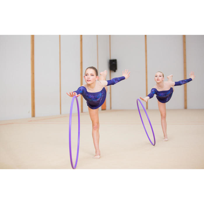 Hoepel ritmische gymnastiek 75 cm paars