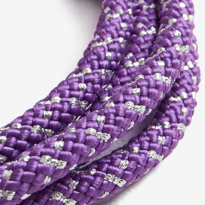 Corde de Gymnastique Rythmique (GR) de 3 mètres Violet pailleté