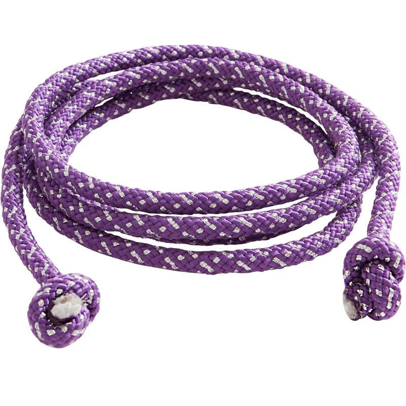 Cuerda de Gimnasia Rítmica (GR) de 3 m violeta con brillo