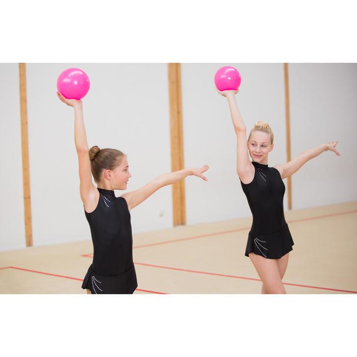 Gymnastikanzug Turnanzug ärmellos schwarz mit Strass
