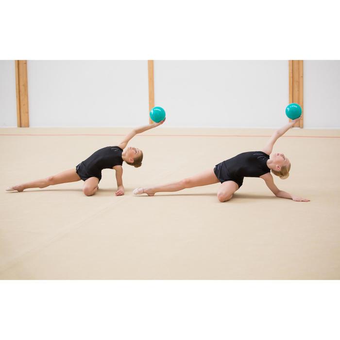 Gymnastikball 165mm smaragd mit Pailletten