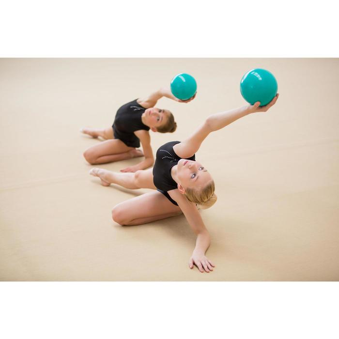 Bal voor ritmische gymnastiek 165 mm smaragd met glitters