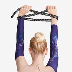 Touw voor ritmische gymnastiek (RG) 165 g zwart met glitters