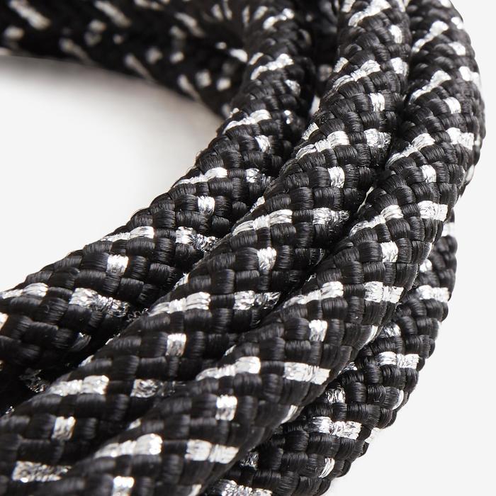 Corde de Gymnastique Rythmique (GR) de 3 mètres Noir pailletée