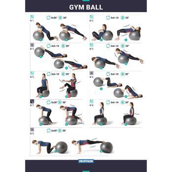 Gymnastikball berstsicher Pilates blau