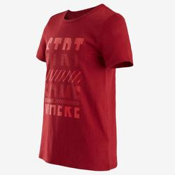 T-shirt manches courtes 100 garçon GYM ENFANT rouge imprimé