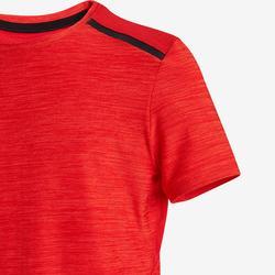 T-Shirt synthétique respirant manches courtes S500 garçon GYM ENFANT rouge