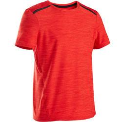 Camiseta Manga Corta Deportiva Gimnasia Domyos S500 Niño Rojo