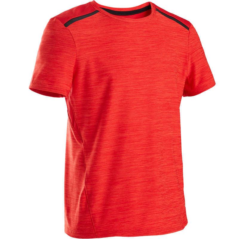 BOY EDUCATIONAL GYM APPAREL Fitness and Gym - S500 Boys' Gym T-Shirt - Red DOMYOS - Gym Activewear