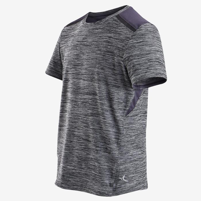 T-Shirt synthétique respirant manches courtes S500 garçon GYM ENFANT gris