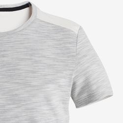 T-Shirt Baumwolle atmungsaktiv 500 Gym Kinder beige