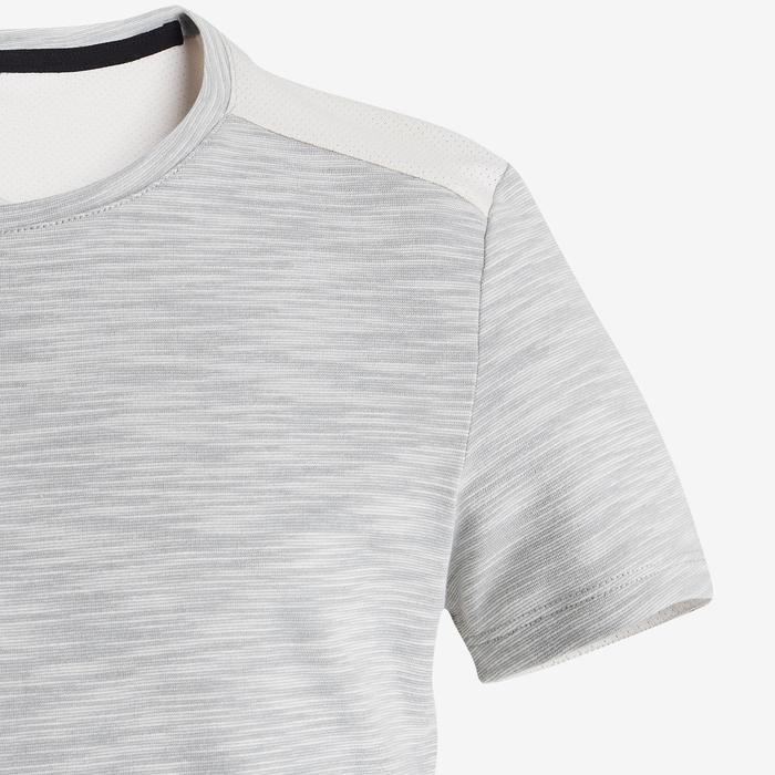 T-Shirt manches courtes coton respirant 500 garçon GYM ENFANT beige