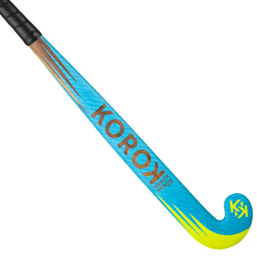 Stick de hockey indoor enfant débutant bois FH100 bleu ciel