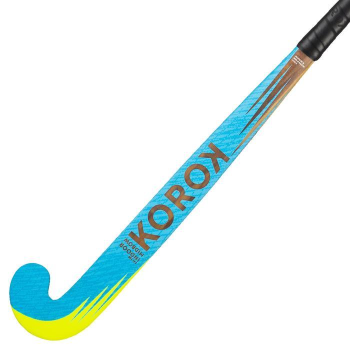 Zaalhockeystick voor beginnende kinderen hout FH100 lichtblauw