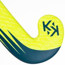 Stick hockey indoor adulto iniciación madera/fibra vidrio MidBow FH100 amarillo