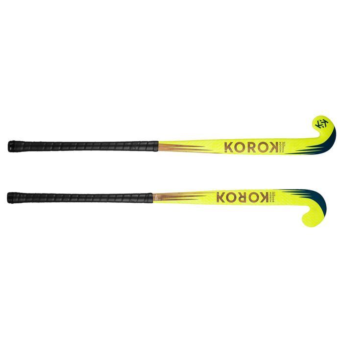 Zaalhockeystick voor beginnende volwassen Mid Bow FH100 geel