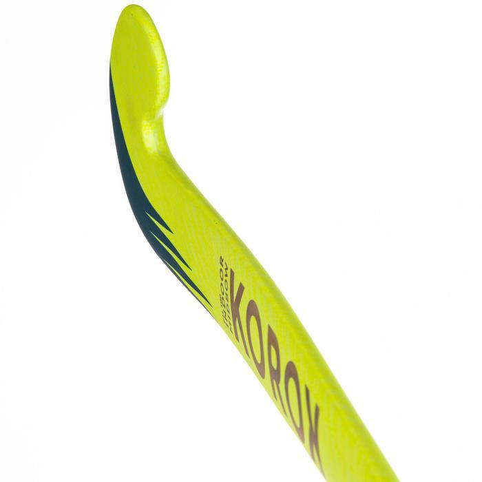 Stick de hockey indoor adulte débutant bois/fibre de verre MidBow FH100 jaune
