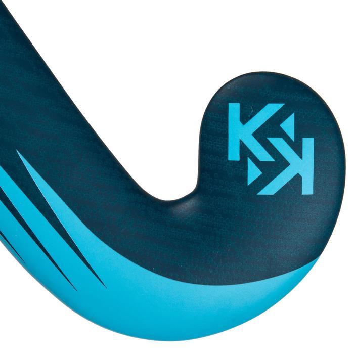 Stick de hockey indoor adulte confirmé 100% fibre de verre Mid Bow FH150 bleu