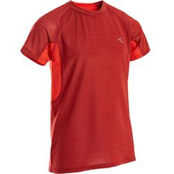 Camiseta de manga corta transpirable S900 niño GIMNASIA INFANTIL rojo