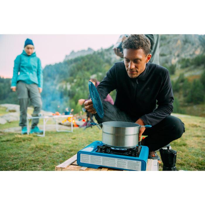Kookset met antiaanbaklaag voor trekkers voor op de camping